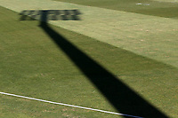 Shadow of a floodlight on the outfield ahead of Essex CCC vs Durham CCC, LV Insurance County Championship Group 1 Cricket at The Cloudfm County Ground on 18th April 2021