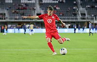 WASHINGTON, D.C. - OCTOBER 11: Christian Pulisic #10 of the United States warming up during their Nations League match versus Cuba at Audi Field, on October 11, 2019 in Washington D.C.