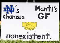 ATHENS, GA - SEPTEMBER 21: Georgia fans sign during a game between Notre Dame Fighting Irish and University of Georgia Bulldogs at Sanford Stadium on September 21, 2019 in Athens, Georgia.