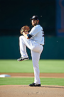 Syracuse Chiefs starting pitcher Taylor Hill (35) during a game against the Louisville Bats on June 6, 2016 at NBT Bank Stadium in Syracuse, New York.  Syracuse defeated Louisville 3-1.  (Mike Janes/Four Seam Images)