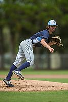 GCL Rays starting pitcher JJ Goss (10) during a Gulf Coast League game against the GCL Twins on August 13, 2019 at CenturyLink Sports Complex in Fort Myers, Florida.  (Greg Wagner/Four Seam Images)