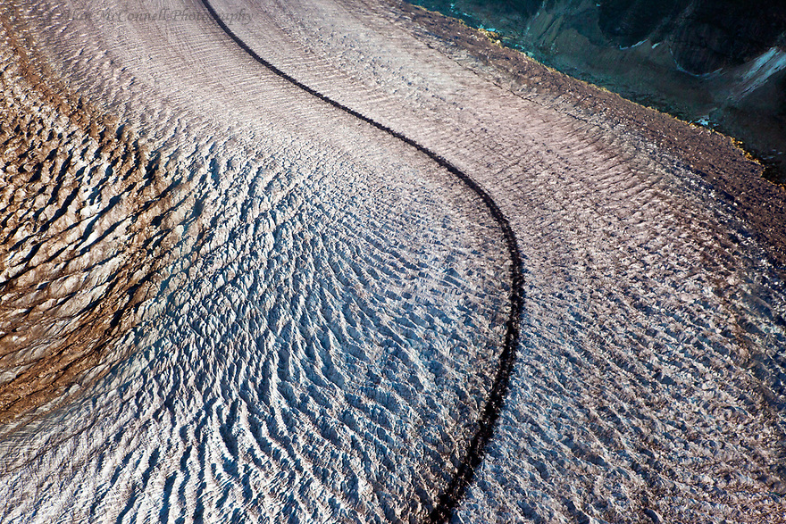 Ruth Glacier, coming down from Danali, creates many fine abstract forms.