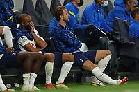 26th August 2021; Tottenham Hotspur Stadium, London, England; Europa Conference League football, Tottenham Hotspur versus Paços de Ferreira; Harry Kane of Tottenham Hotspur on the subs bench