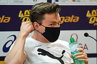 Karsten Warholm of Norway attends the press conference of the Golden Gala Pietro Mennea, the Italian leg of the Wanda Diamond League athletic circuit at Stadio Olimpio, Rome, September, 16th, 2020.  <br /> Photo Andrea Staccioli/Insidefoto