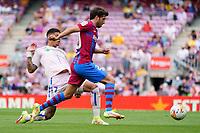 29th August 2021; Nou Camp, Barcelona, Spain; La Liga football league, FC Barcelona versus Getafe; Sergi Roberto and  Olivera