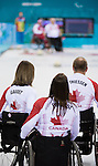 Sonja Gaudet, Ina Forrest, and Dennis Thiessen, Sochi 2014 - Wheelchair Curling // Curling en fauteuil roulant.<br />