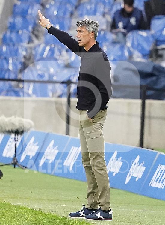 Real Sociedad's coach Imanol Alguacil during La Liga match. October 3, 2020. (ALTERPHOTOS/Acero)