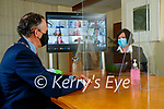 Mayor of Kerry Patrick O'Connor- Scarteen and CEO of Kerry County Council Moira Murrell on a zoom call in Kerry County Council.