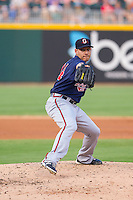 Gwinnett Braves starting pitcher Daniel Rodriguez (34) in action against the Charlotte Knights at BB&T Ballpark on August 6, 2014 in Charlotte, North Carolina.  The Knights defeated the Braves  12-10.  (Brian Westerholt/Four Seam Images)