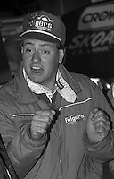 Ken Schrader garage Daytona 500 at Daytona International Speedway on February 19, 1989.  (Photo by Brian Cleary/www.bcpix.xom)