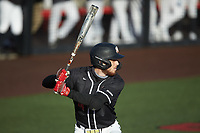 Kevin Lambert (24) of the Western Kentucky Hilltoppers at bat against the Valparaiso Crusaders at Nick Denes Field on March 19, 2021 in Bowling Green, Kentucky. (Brian Westerholt/Four Seam Images)