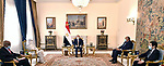 Egyptian President Abdel Fattah el-Sisi, receives Dr. Maryam Al-Sadiq Al-Mahdi, Minister of Foreign Affairs of the Republic of Sudan, in the presence of Mr. Sameh Shukry, Minister of Foreign Affairs, and the Sudanese ambassador to Cairo, Mohamed Elias, in Cairo, Egypt oon March 2, 2021. Photo by Egyptian President Office