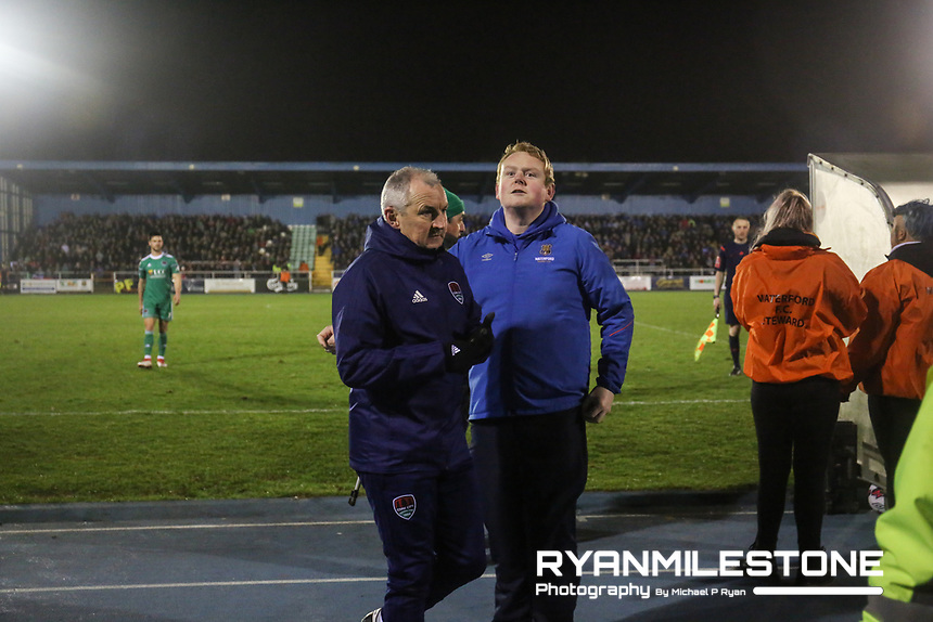 John Caulfield is sent off during the SSE Airtricity League Premier Division game between Waterford FC and Cork City on Friday 6th April 2018 at The RSC, Waterford. Photo By Michael P Ryan
