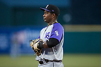 Winston-Salem Dash first baseman Lazaro Leal (30) on defense against the Greensboro Grasshoppers at First National Bank Field on June 3, 2021 in Greensboro, North Carolina. (Brian Westerholt/Four Seam Images)
