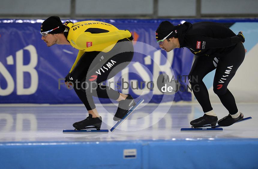 SCHAATSEN: HEERENVEEN, IJsstadion Thialf, 02-10-2020, TEAM JUMBO/VISMA, Hein Otterspeer, Kai Verbij, ©foto Martin de Jong