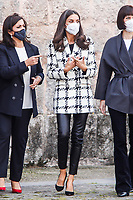 San Millan de la Cogolla, SPAIN - October 6: **NO SPAIN** Queen Letizia of Spain attends the XV Language and Journalism congress at the Yuso monastery in San Millan de la Cogolla, Spain on October 6, 2021. <br /> CAP/MPI/RJO<br /> ©RJO/MPI/Capital Pictures