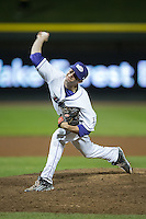 Winston-Salem Dash relief pitcher Connor Walsh (28) delivers a pitch to the plate against the Myrtle Beach Pelicans at BB&T Ballpark on April 19, 2016 in Winston-Salem, North Carolina.  The Dash defeated the Pelicans 6-5.  (Brian Westerholt/Four Seam Images)