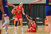 Alison Gibson (9) of Puerto Rico and Jackie Benitez (55) of Puerto Rico pictured during a basketball game between the national teams of Puerto Rico and Serbia on Sunday 30 th of May 2021 in Kortrijk , Belgium . PHOTO SPORTPIX.BE   SPP   STIJN AUDOOREN