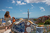 Barcelona, Spain<br /> Catalonia<br /> June 25, 2021<br /> <br /> Parc Güell by Catalan architect Antoni Gaudi, was inaugurated as a public park in 1926.