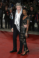 VENICE, ITALY - September 06: Roger Waters and a guest attend Roger Waters Us + Them Red Carpet during the 76th Venice Film Festival  on September 06 , 2019 in Venice, Italy. (Photo by Mark Cape/Insidefoto)<br /> Venezia 06/09/2019