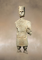 9th century BC Giants of Mont'e Prama  Nuragic stone statue of an archer, Mont'e Prama archaeological site, Cabras. Museo archeologico nazionale, Cagliari, Italy. (National Archaeological Museum)