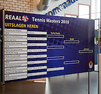17-12-10, Tennis, Rotterdam, Reaal Tennis Masters 2010, Uitslagen boord