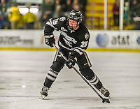 29 December 2014: Providence College Friar Forward Robbie Hennessey, a Freshman from Garnet Valley, PA, in first period action against the University of Vermont Catamounts during the deciding game of the annual TD Bank-Sheraton Catamount Cup Tournament at Gutterson Fieldhouse in Burlington, Vermont. The Friars shut out the Catamounts 3-0 to win the 2014 Cup. Mandatory Credit: Ed Wolfstein Photo *** RAW (NEF) Image File Available ***