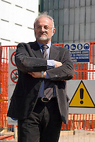 "milano, periferia nord. cantieri per la riqualificazione dell'ex area carlo erba di piazzale maciachini - via imbonati. nella foto: Antonio Napoleone, amministratore delegato europa risorse --- milan, north periphery. construction site for the requalification of the former ""carlo erba"" area in maciachini square -  imbonati street. in the picture: antonio napoleone, delegate of ""europa risorse"""