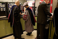 3 June 2011, Cambridge, MA - MIT Commencement..Graduating students get coffee at La Verde's Market in the Stratton Student Center before the 2011 commencement ceremony at the Massachusetts Institute of Technology. ...Photo by M. Scott Brauer for MIT News