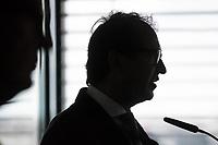 Pressekonferenz mit DB Infrastruktur-Vorstand Ronald Pofalla und Bundesminister fuer Verkehr und digitale Infrastruktur Alexander Dobrindt am Freitag den 28. Juli 2017 zum Thema Hochgeschwindigkeitsstrecke von Berlin nach Muenchen.<br /> 10. Dezember 2017 soll die Hochgeschwindigkeitsstrecke Berlin - Muenchen in Betrieb genommen werden. Es ist die groesste Angebotsverbesserung in der Geschichte der Deutschen Bahn. Reisende sollen fuer die Strecke dann nur noch ca. 4 Stunden benoetigen. In das Verkehrsprojekt Deutsche Einheit Nummer 8 wurden 10 Milliarden Euro wurden  investiert.<br /> Im Bild: Alexander Dobrindt.<br /> 28.7.2017, Berlin<br /> Copyright: Christian-Ditsch.de<br /> [Inhaltsveraendernde Manipulation des Fotos nur nach ausdruecklicher Genehmigung des Fotografen. Vereinbarungen ueber Abtretung von Persoenlichkeitsrechten/Model Release der abgebildeten Person/Personen liegen nicht vor. NO MODEL RELEASE! Nur fuer Redaktionelle Zwecke. Don't publish without copyright Christian-Ditsch.de, Veroeffentlichung nur mit Fotografennennung, sowie gegen Honorar, MwSt. und Beleg. Konto: I N G - D i B a, IBAN DE58500105175400192269, BIC INGDDEFFXXX, Kontakt: post@christian-ditsch.de<br /> Bei der Bearbeitung der Dateiinformationen darf die Urheberkennzeichnung in den EXIF- und  IPTC-Daten nicht entfernt werden, diese sind in digitalen Medien nach §95c UrhG rechtlich geschuetzt. Der Urhebervermerk wird gemaess §13 UrhG verlangt.]