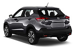 Car pictures of rear three quarter view of a 2019 Nissan Kicks SV 5 Door SUV angular rear