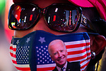 People gather in Times Square in celebration after former Vice President Joe Biden was declared the winner of the 2020 presidential election between U.S. President Donald Trump and Biden on November 7, 2020 in New York City.  Photograph by Michael Nagle