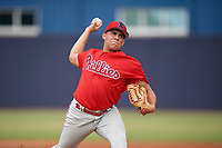 GCL Phillies East pitcher Brendan Bell (51) during a Gulf Coast League game against the GCL Yankees East on July 31, 2019 at Yankees Minor League Complex in Tampa, Florida.  GCL Phillies East defeated the GCL Yankees East 4-3 in the second game of a doubleheader.  (Mike Janes/Four Seam Images)