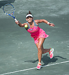 Chanelle Scheepers (RSA) loses to Venus Williams (USA)at the Family Circle Cup in Charleston, South Carolina on April 2, 2014.