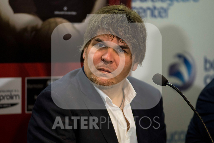 "The writter of the book Jose Luis Hernandez Torres during the presentation of the book ""Carmelo Cabrera, El globertrotter blanco"" at Barclaycard Center in Madrid, March 01, 2016<br /> (ALTERPHOTOS/BorjaB.Hojas"