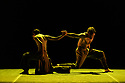 """London, UK. 26.01.2020. Erina Takahashi and James Streeter, rehearse Akram Khan's """"Dust"""", for the Ballet Icons Gala 2020, at the London Coliseum. Photograph © Jane Hobson."""