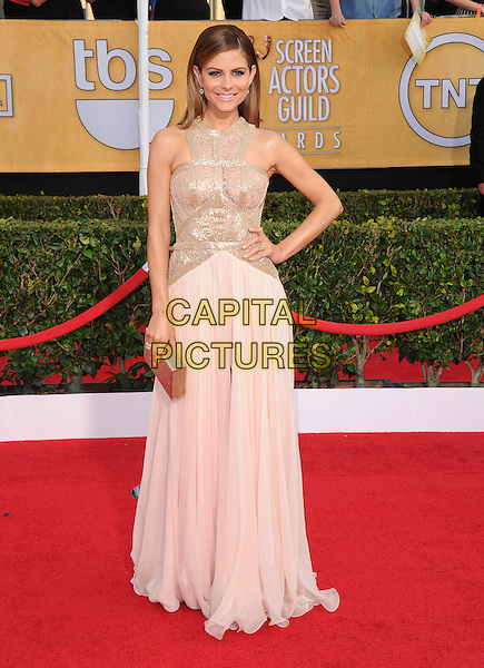 Maria Menounos at the tends 20th Annual Screen Actors Guild Awards held at the  The Shrine Auditorium in Los Angeles, California on January 18th 2014.                                                                              <br /> CAP/DVS<br /> ©Debbie VanStory/Capital Pictures