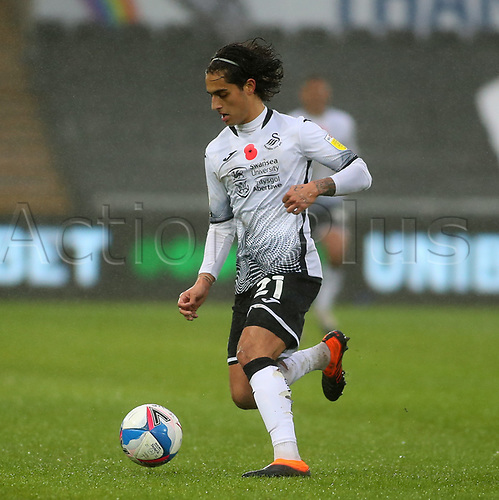 21st November 2020; Liberty Stadium, Swansea, Glamorgan, Wales; English Football League Championship Football, Swansea City versus Rotherham United; Yan Dhanda of Swansea City