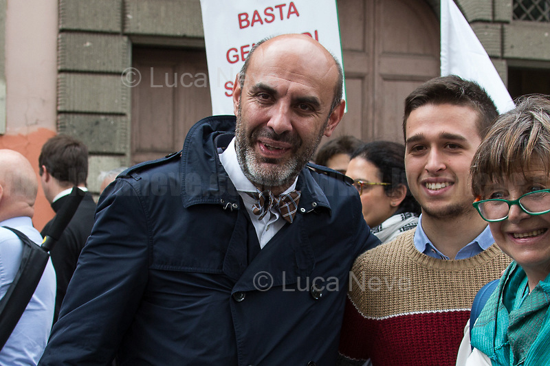 """Simone Pillon (Northern League party senator, Political father of the Pillon Law DDL N. 735, 3.).<br /> <br /> Rome, 18/05/19. Today, thousands of people gathered in Piazza della Repubblica to attend the annual Marcia per la Vita (March For Life - For a life without compromise! 1.) and to reaffirm the yes to life. The march, which ended on the Fori Imperiali, reached this year its IX edition. This initiative was born to fight for the dignity of every human being from conception to natural death, in favour of birth, motherhood and childhood, to fight against the legalization of abortion (in Italy: Legge 194, Law No. 194 of 22 May 1978 on the social protection of the motherhood and the voluntary termination of pregnancy, 2.) and euthanasia, and to raise awareness of the dangers of the various Dats or """"biological wills"""". The march was attended by families, young people and children, associations from around the world (including Ireland, Malta, Great Britain, United States, Poland, Argentina), religious representatives, including Catholic priests, nuns, the Cardinal Willem Jacobus Eijk, Metropolitan Archbishop of Utrecht, Cardinal Raymond Leo Burke, Archbishop and the patron of the Sovereign Military Order of Malta, Politicians, including Northern League party senator Simone Pillon (Political father of the Pillon Law DDL N. 735, 3.), and political movements/parties/organizations: including the right wing Fratelli D'Italia and the neo-fascist organization forza nuova.<br /> <br /> Footnotes and Links:<br /> 1. https://www.marciaperlavita.it/en/ & http://bit.do/eSLzS<br /> 2. Law 194: https://bit.ly/2GSJVpt (Eng) & https://bit.ly/2hPQXEP (Ita) & https://bit.ly/2GTfT4W<br /> 3. https://bit.ly/2z4zD4g<br /> <br /> My Stories about same topics & different opinions:<br /> 26.05.18 """"Who Decides On Our Lives?"""" - 40th Anniversary of """"Legge 194"""" http://bit.do/eSLg9<br /> 08.03.19 8 March: Global Strike for IWD 2019 http://bit.do/eSLgT<br /> 09.04.19 NoDdlPillon Rally Outside Ital"""