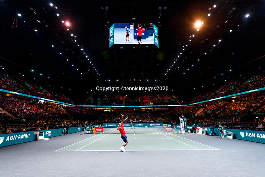 Rotterdam, The Netherlands, 14 Februari 2020, ABNAMRO World Tennis Tournament, Ahoy,   Gaël Monfils (FRA).<br /> Photo: www.tennisimages.com