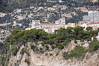 - Principality of Monaco, the city of Montecarlo  from the sea, the Prince's Palace<br /> <br /> - principato di Monaco, la città di Montecarlo vista dal mare, il Palazzo dei Principi