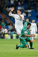 Real Madrid´s Chicharito (L) during Spanish King Cup match between Real Madrid and Cornella at Santiago Bernabeu stadium in Madrid, Spain.December 2, 2014. (NortePhoto/ALTERPHOTOS/Victor Blanco)