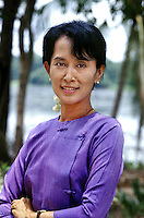 Aung San Suu Kyi, Rangoon, Burma, 1996