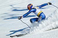 Bode Miller at the men's giant slalom, 2004 Chevrolet Alpine National Championships, Alyeska Resort, Alaska.