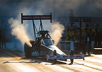 Oct 11, 2019; Concord, NC, USA; NHRA top fuel driver Billy Torrence during qualifying for the Carolina Nationals at zMax Dragway. Mandatory Credit: Mark J. Rebilas-USA TODAY Sports