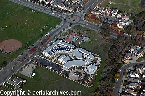 aerial photograph Casa Grande High School, Petaluma, Sonoma county, California