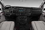 Stock photo of straight dashboard view of 2016 Chevrolet Express-Cargo 2500-Work-Van-HD 4 Door Cargo Van Dashboard