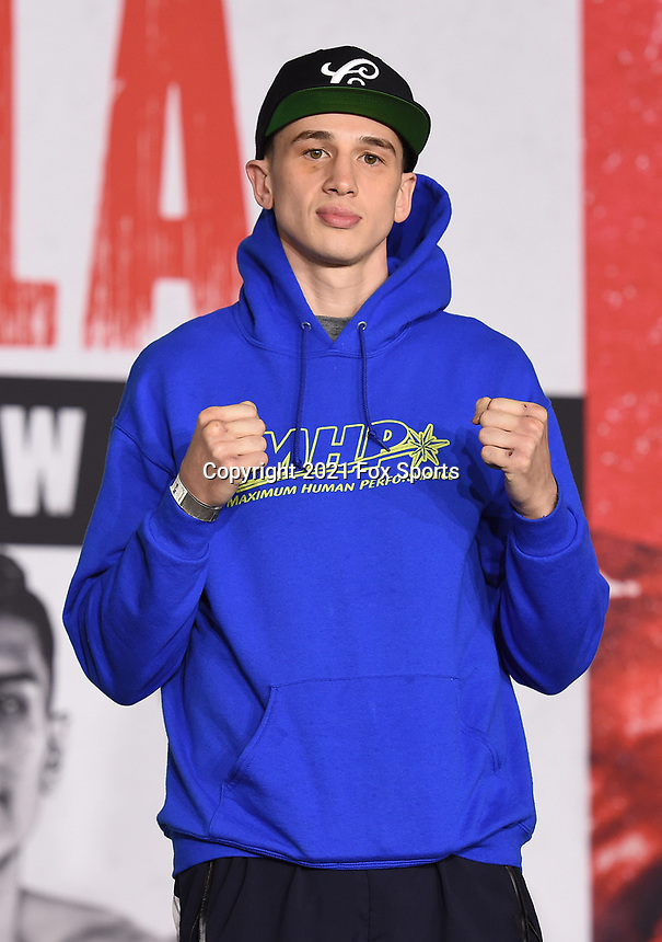 LOS ANGELES, CA - APRIL 29: Thomas LaManna attends the undercard press conference for the Andy Ruiz Jr. vs Chris Arreola Fox Sports PBC Pay-Per-View in Los Angeles, California on April 29, 2021. The PPV fight is on May 1, 2021 at Dignity Health Sports Park in Carson, CA. (Photo by Frank Micelotta/Fox Sports/PictureGroup)