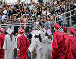 Wolcott, CT- 13 June 2016-061316CM12-  Wolcott High School graduates are greeted by friends and family during commencement exercises on Monday.    Christopher Massa Republican-American