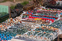 """Myanmar, Burma. Necklaces and Jewelry for Sale at a Local """"Five-Day"""" Market, Inle Lake, Shan State."""